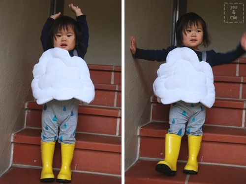 Rain cloud costume tutorial by Cherie from You & Mie