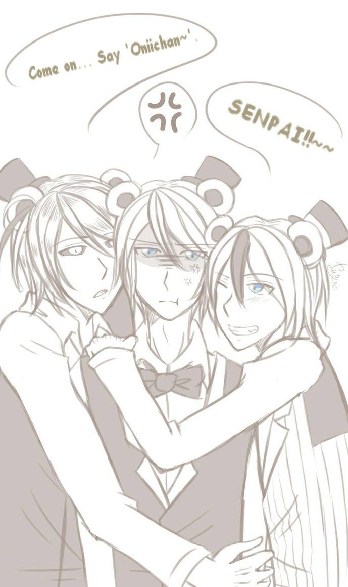 If u kno wat Oniichan means then you are da BOSS XD I saw someone's art about this trio (pedo) bear, and I thought liek OMGEEEE!! THE ADORBNESS I CAN'T---ASDFGHJKL! In my mind Goldie was trying to ...