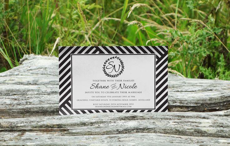 Shane & Nicoles Invite - www.chicdesign.co.nz