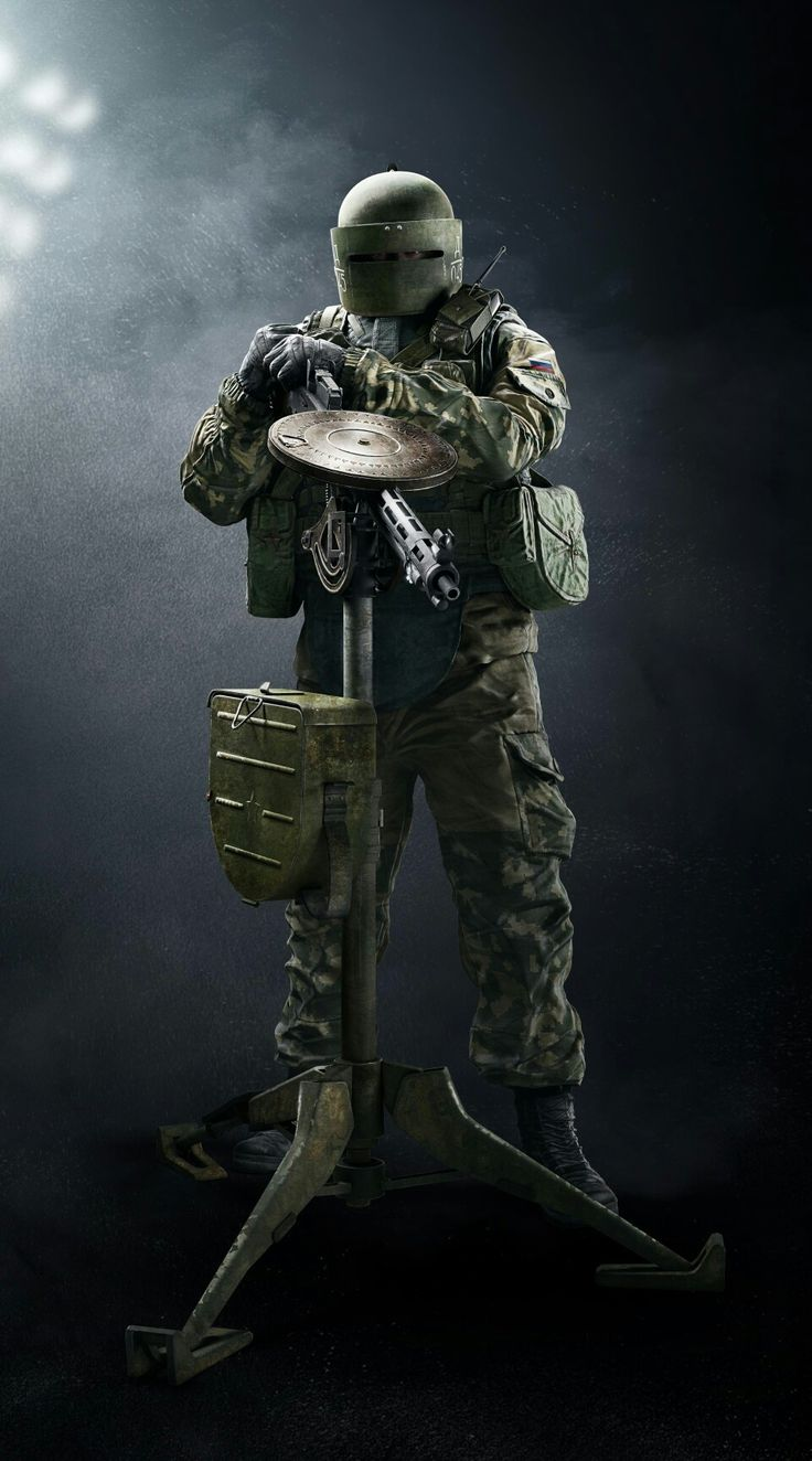 Rainbow Six Siege's Tachanka.  Watch Rainbow Six Siege videos here: http://www.dingit.tv/game/207?utm_source=pinterest&utm_campaign=rainbow_six_siege&utm_medium=social&utm_content=pin