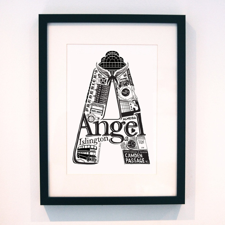 Best of Angel limited edition screenprint // by LucyLovesThis. £28.00, via Etsy.