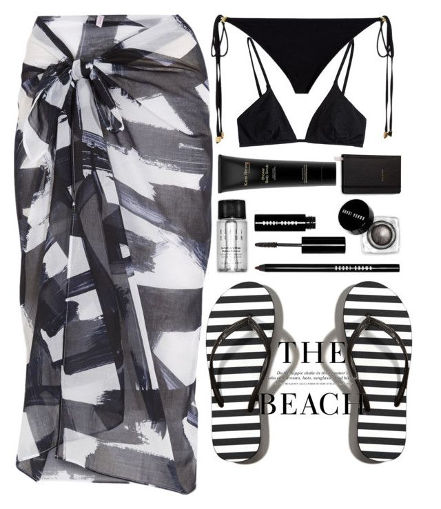 """""""Beach day"""" by haboon on Polyvore featuring Eres, Karin Herzog, Bobbi Brown Cosmetics, Melissa Odabash, ELIZABETH HURLEY beach, Abercrombie & Fitch, Kate Spade and H&M"""