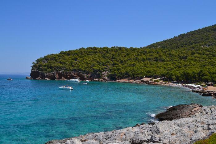 Dragonera beach- green and blue