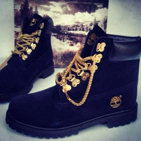Hey, I found this really awesome Etsy listing at http://www.etsy.com/listing/158982528/custom-black-timberland-boots-with-gold