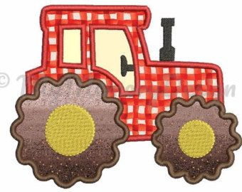 Descarga inmediata Tractor aplique bordado de por JoyousEmbroidery