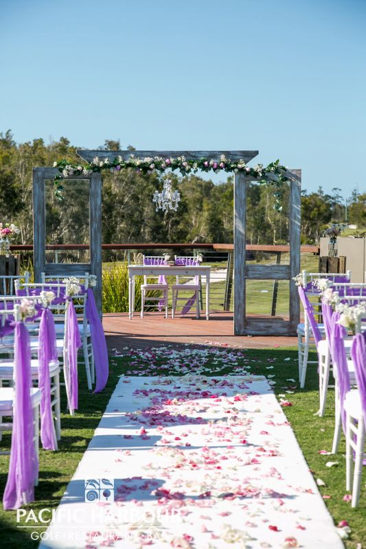 Walk down the aisle at Pacific Harbour, Bribie Island. Call 07 3410 4001 to start planning your dream wedding today.
