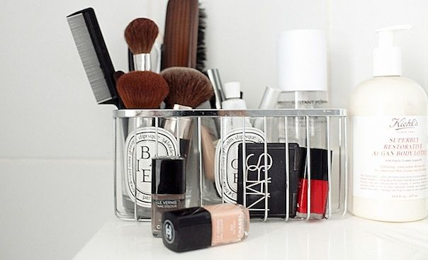 I love using empty diptyque jars to hold my makeup brushes and
