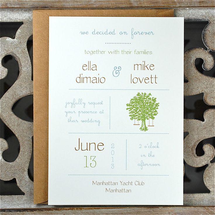 Wedding Invitations / Wedding Invitation  - Tree Swing Invite. $4.00, via Etsy.