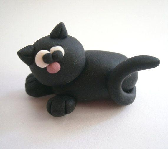 Cute Kitty Cat (Micio Miao) - A Little Polymer Clay Creation