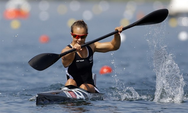 New Zealand's Lisa Carrington competes in the women's K-1 200m semifinal
