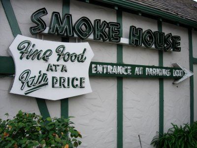 Dear Old Hollywood: Smoke House Restaurant: Established 1946