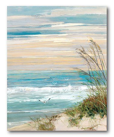 This Beach Scene Wrapped Canvas is perfect! #zulilyfinds
