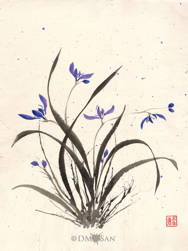 """Limited print run of 100 using archival quality materials. Each will be signed and numbered on the front. Reproduction print of an original sumi-e painting on rice paper. Image size: 12"""" x 16"""" Paper size: 13"""" x 19"""" Printed on archival quality Epson Velv"""