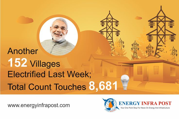 It seems we are moving close to Prime Minister, Shri #NarendraModi vision. Government on Monday announced that 152 villages have been electrified across the country during last week (from 27th June  to 3rd July 2016) under Deen Dayal Upadhyaya Gram Jyoti Yojna Out of these electrified villages, 3 villages belong to Arunachal Pradesh , 49  in Assam, 54 in Meghalaya ,22 in Jharkhand,3 in Rajasthan ,6  in Madhya Pradesh , 10 in Odisha, 4 in Bihar and 1 in Chhattisgarh. #DDUGJY #GVA