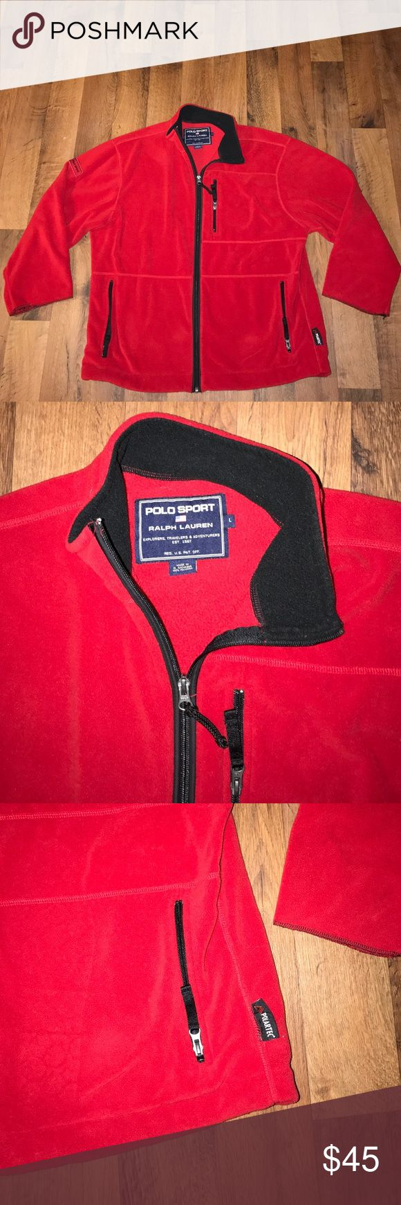Vintage Large Polo Sport Ralph Lauren Fleece Coat Excellent condition Polo by Ralph Lauren Jackets & Coats