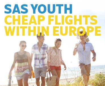 SAS youth - Cheap flights to Scandinavia, Europe, Asia and USA!