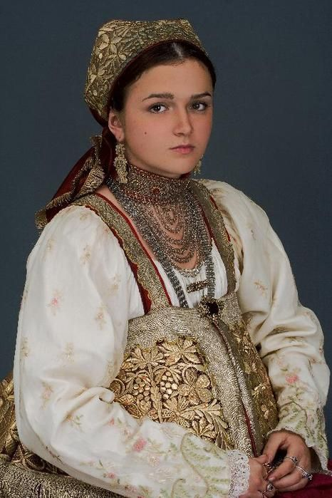 Russian woman dressed traditionally
