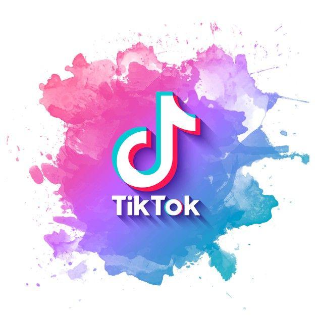 Tiktok Banner With Watercolor Splatter F Free Vector Freepik Freevector Logo Abstract Technology Geo Watercolor Splatter Social Media Logos Cute App