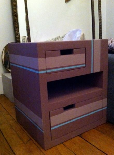 34 best Consoles en carton images on Pinterest Cardboard furniture - Poser Papier A Peindre
