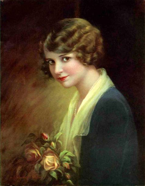 Adelaide Hiebel (1886 – 1968) Month of Rose