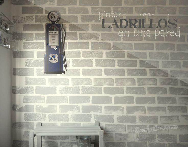 Pintar ladrillos en la pared