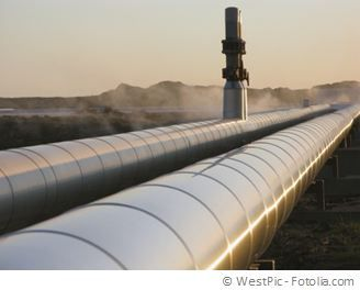 Pipe of the natural gas grid. Supply with energy.