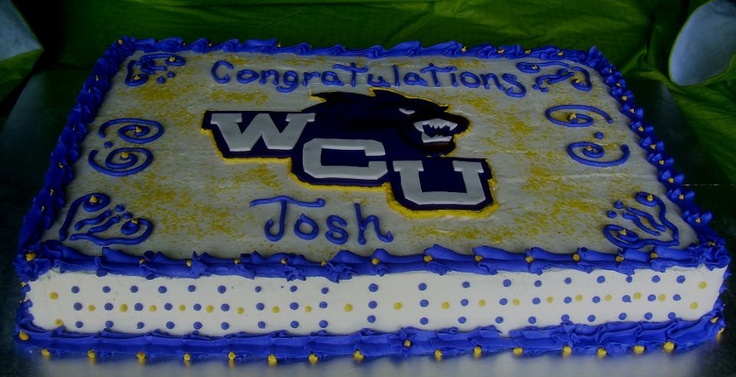 Graduation Cake For Western Carolina University Student
