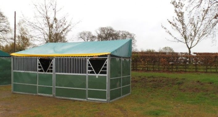 a small hyppic temporary stable, hyppic temporary #stables are flat packs that can be assembled in minutes