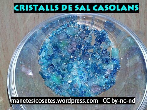 Fem cristalls amb sal