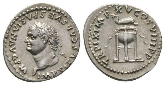 Ancient Coins - Titus (79-81), Denarius, Rome, January-June 80