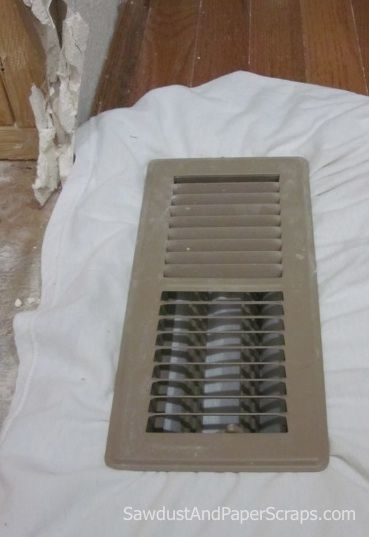 Keeping junk out of your vents when working on a room.