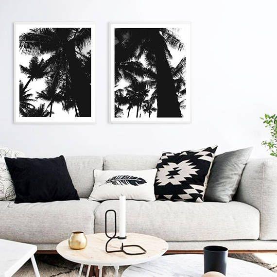 Palms print Palm Tropical Plants Minimalistic art Modern
