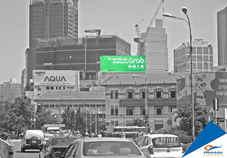 Bảng quảng cáo Grab - 121 Lê lợi, Phường Bến Thành, Quận 1, Tp. HCM