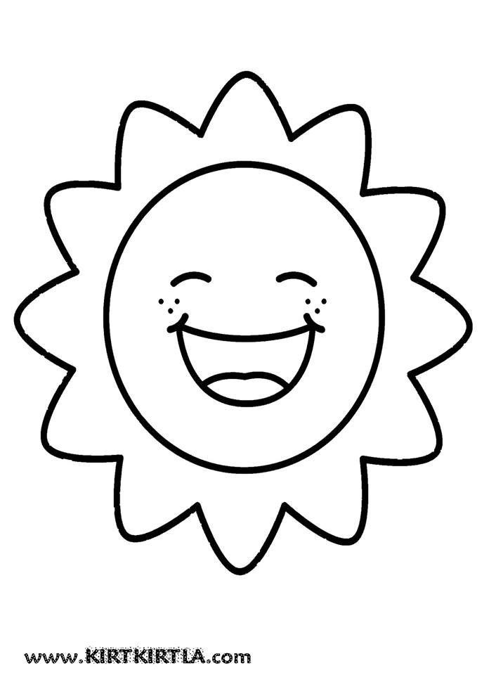 Güneş Boyama Sayfasi Boyama Sayfalari