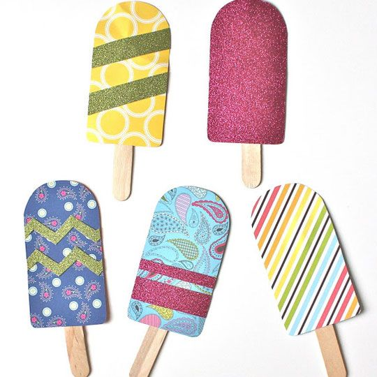 Click pic for 28 spring crafts for kids paper popsicles for Popsicle crafts for kids