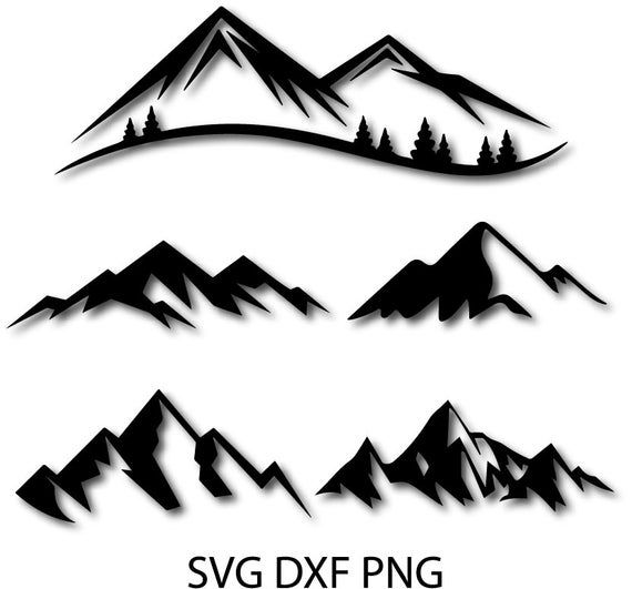 Transparent Mountain Outline Png