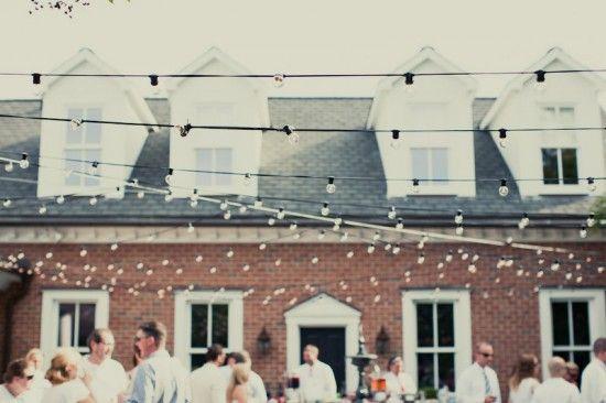 Elegant Backyard Wedding Lighting