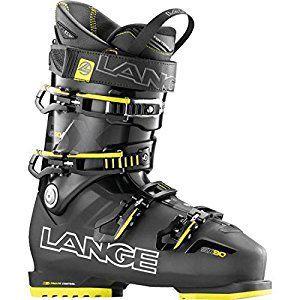 Lange SX 90 - Botas de esquí para hombre, color gris / amarillo, talla 27.5