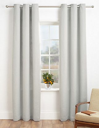 Bantry Weaved Curtains   M&S