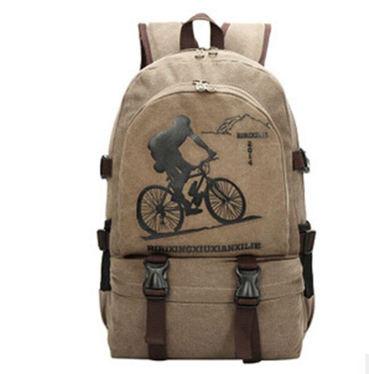 Men Women Backpack Canvas Fashion Leisure Male Day Rucksack School Backpacks Back Pack Bookbags Mochila
