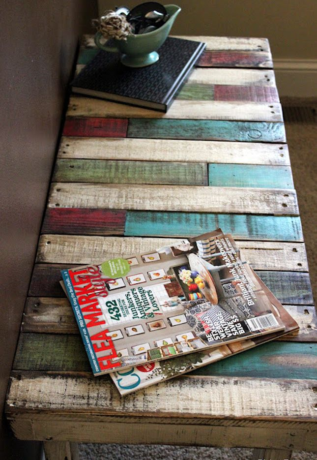 18 More Totally Pallet-able Ways to Repurpose Old Pallets via Brit + Co. In love with this table!