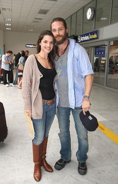 Tom Hardy with girlfriend Charlotte Riley