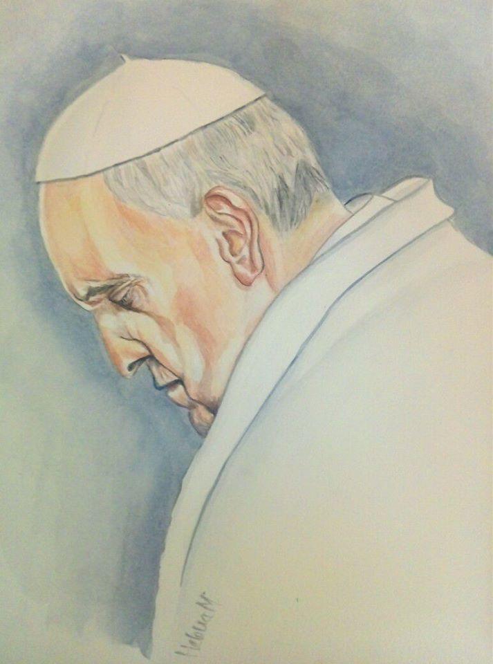 Papa Francisco - aguarela