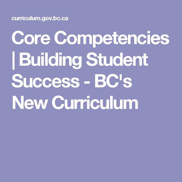 Core Competencies | Building Student Success - BC's New Curriculum