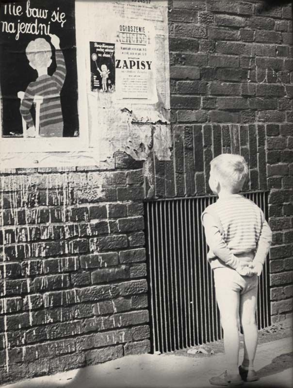 "Zofia Rydet photograph of the ""little man"", Poland, 1952"