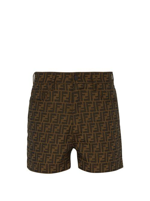 ba7a3c842d FENDI FENDI - FF JACQUARD SHORTS - MENS - BROWN MULTI. #fendi #cloth ...