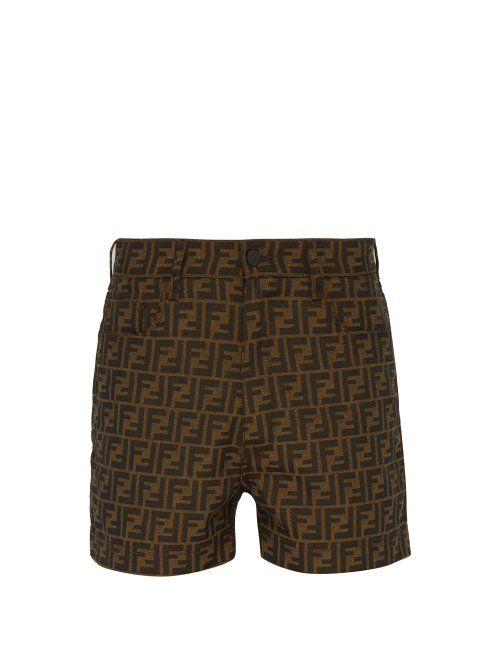 5dfccb24b9 FENDI FENDI - FF JACQUARD SHORTS - MENS - BROWN MULTI. #fendi #cloth ...