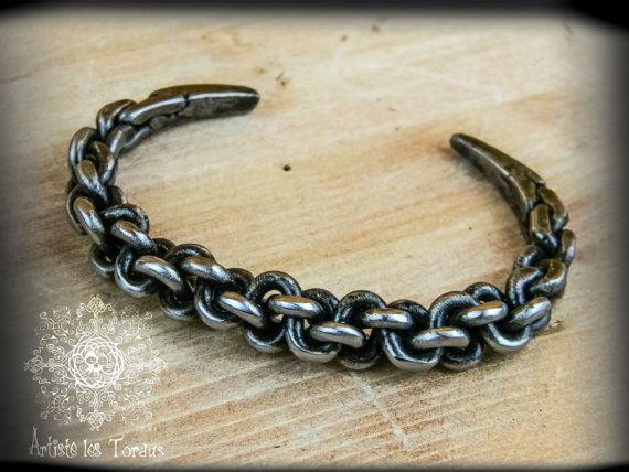 Metal braided bracelet-3