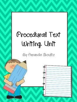 How-To Procedural Writing Unit by Miss Shoults' Store    Teachers Pay Teachers