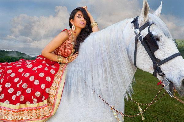 Westlake Village, CA Stylized Indian Bridal Photo Shoot by Braja Mandala Wedding Photography